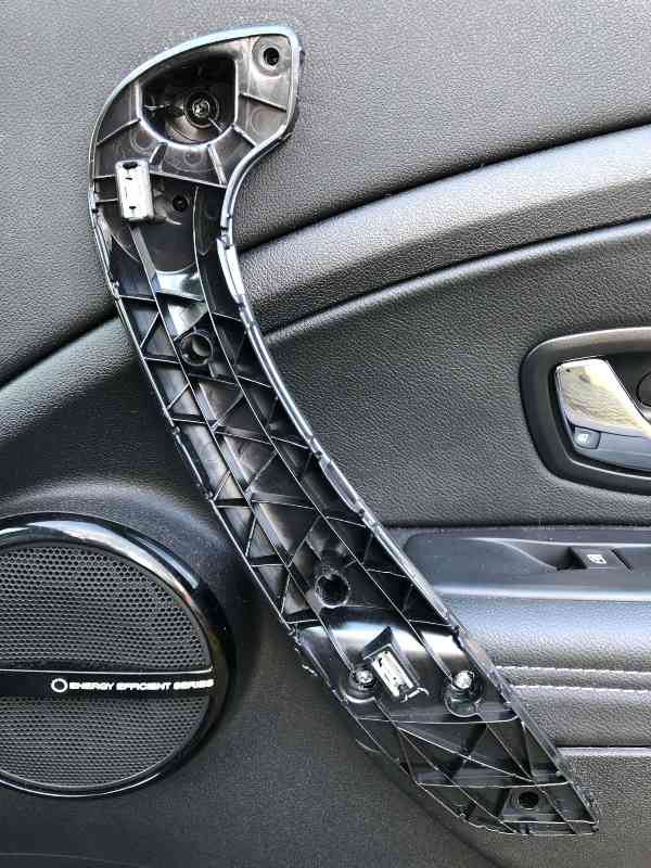 Plastic voet zoals die op de deur gemonteerd zit
