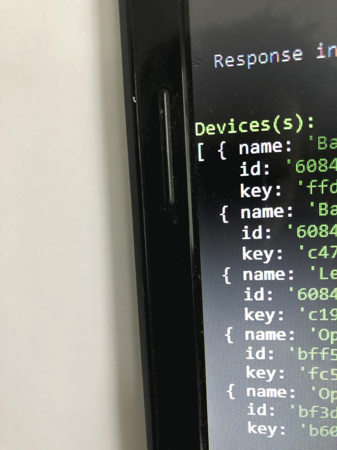Benodigde codes om de Tuya Smart devices vanuit homey te bedienen. Name / id / key