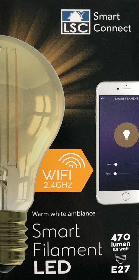 LSC Smart Filament LED lamp Action