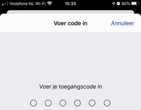 Voer beveiligingscode in