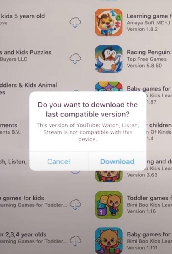 Installeer YouTube op oude Ipad