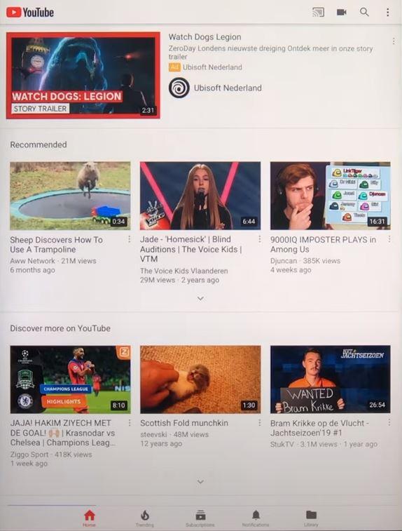 YouTube installeren op oude iPad
