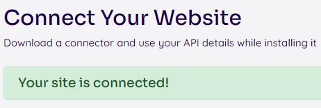 Koppeling NitroPack met jouw WordPress website is gemaakt