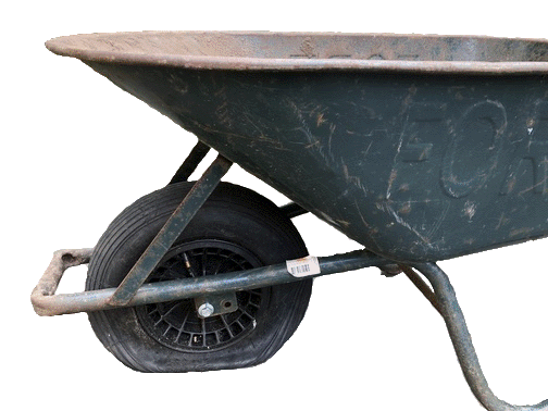 Tubeless kruiwagenband oppompen - Kruiwagen zonder binnenband oppompen